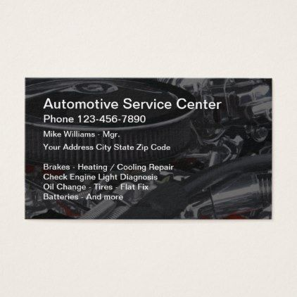Automotive Service Center Business Card - modern gifts cyo gift ideas personalize