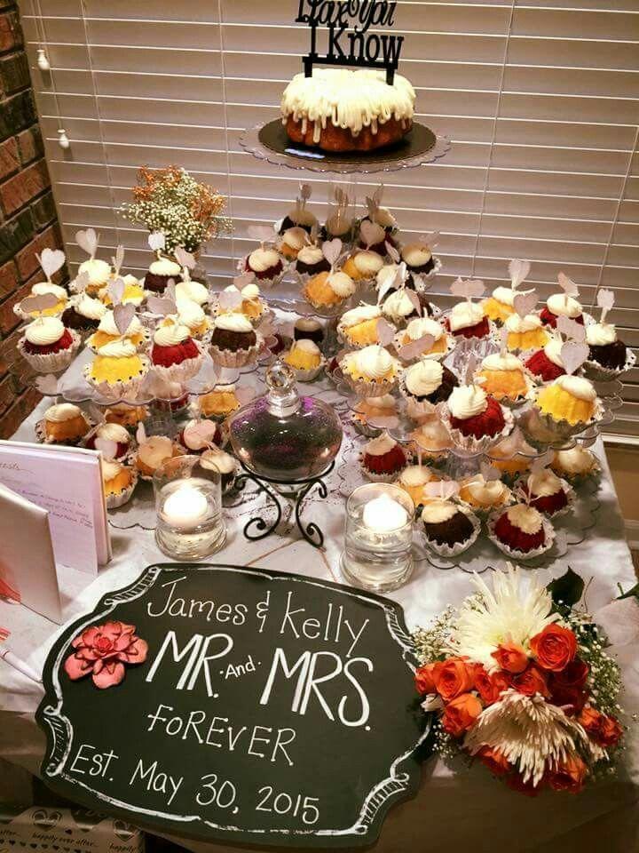 Our version of wedding cake Mini Bundt