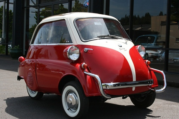 BMW Isetta front door opening our favorite student ride  My