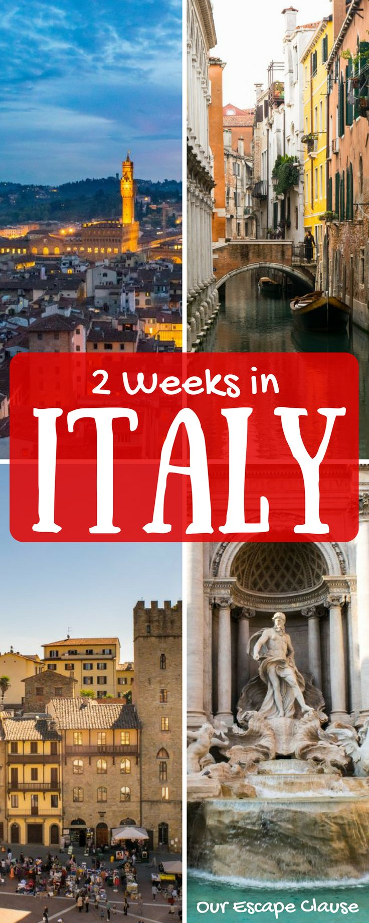 The ultimate 2 weeks in Italy itinerary for first time visitors to the country! Explore Rome, Florence, Tuscany, Venice, and Cinque Terre over 14 days and discover the magic of Italy. #italy #itinerary #italia #tuscany #rome #florence #venice #travel