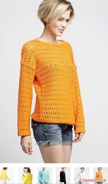 Вяжем вместе короткий свитер DIANA