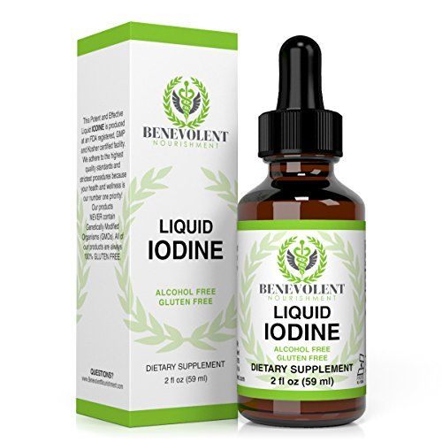 Liquid Iodine Dietary Supplement as Potassium Iodide Easy to Take One 1 Potent  Effective Drop a Day Absorb Fast to Best Help With Iodine or Thyroid Deficiency 1300 Servings per 2oz Bottle -- Read more  at the image link.Note:It is affiliate link to Amazon.