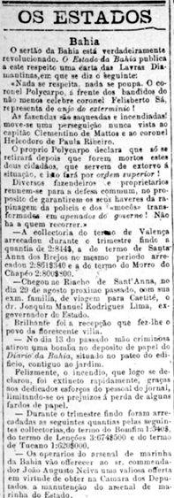 Jornal do Brasil noticia a guerra em Canudos   gaúchos na guerra de canudos   gaúchos na guerra de canudos   gaúchos na guerra de canudos  ...