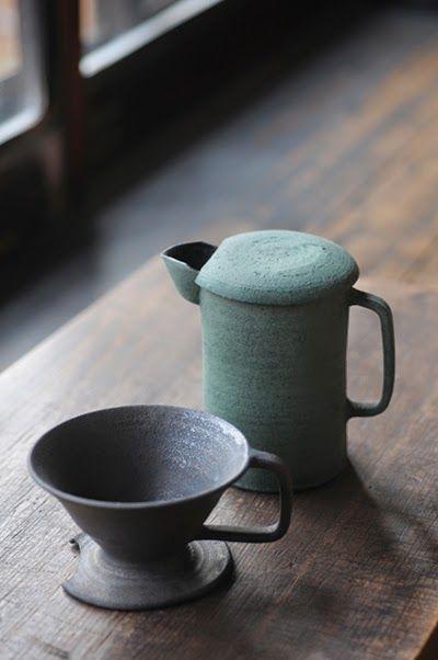 Coffee dripper by Omura Takashi. 2014. Analogue Life gallery, Nagoya, Japan
