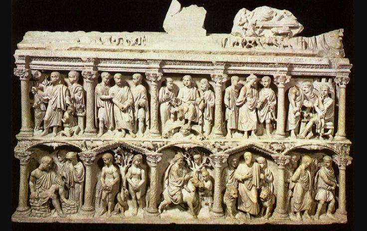 Sarcofago di Giunio Basso - 359 d.C. - Marmo- Roma, Museo del tesoro di San Pietro.