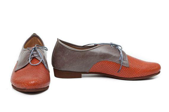 Scarpe in pelle di cammello scarpe Oxford cammello chiudere