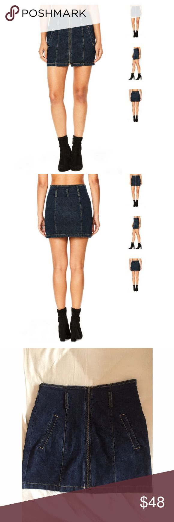 CARMAR Denim Zip Up Theone Mini Skirt 27 $168 Never worn, new with tags denim skirt! The material is so comfortable it fits a 27 true to size and could probably stretch to a 28. LF Skirts Mini