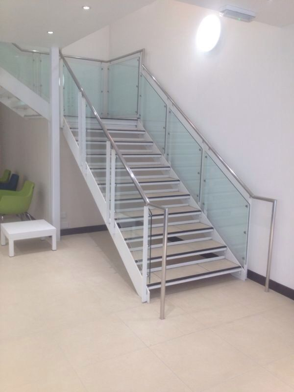 Example of a staircase that we have worked on. We can re-coat the metal sections - for more on work carried out by Vanda Coatings visit http://www.vandacoatings.co.uk/ #metal #spraypaint #paint