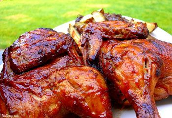 My favorite chicken recipe ever. Our family loves these whole fryers...
