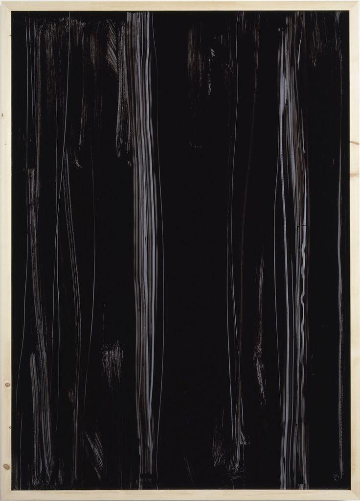 IMI KNOEBEL / Une exposition historique à DRAWING NOW PARIS du 29 mars au 03 avril 2016 Schwarze Acrylglaszeichnung Nr.12, 1991. Laque et acrylique, 206 x 149 cm