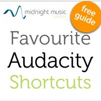 Favourite Audacity Keyboard Shortcuts – free downloadable (and printable) PDF   http://www.midnightmusic.com.au/2012/12/favourite-audacity-keyboard-shortcuts-free-download/#