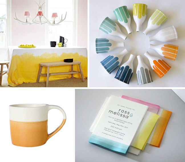 Madewell:ディップ染めデザインクレイズ - コレクションイベントスタジオ - コレクション - ワインカントリーの結婚式&ベンダー&舞台の精選されたコレクションを展示して、Event Studio