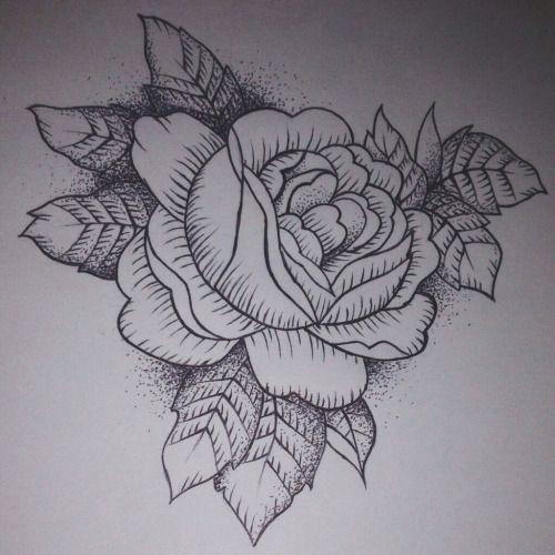 Cover Up Rose Outline: 20 Best Flower Outline Tattoo Tumblr Images On Pinterest