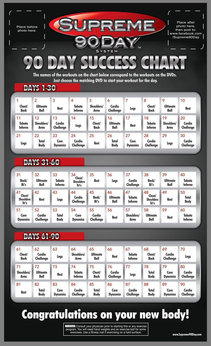 """WORKOUT SCHEDULE. **Supreme 90Day System, """"Get Ripped in 90Days!"""""""