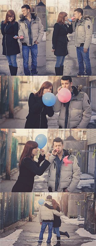 Gender reveal photoshoot. Outdoor,. Balloons. Baby boy. Spring. Back alley. Love. Fun.  - Séance photo annonce sexe du bébé. Ballon. Extérieur. Bébé garçon. Ruelle. Amour. Amusant