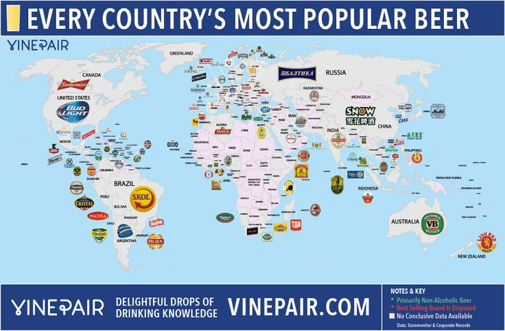 Every country's most popular beer on a single map.