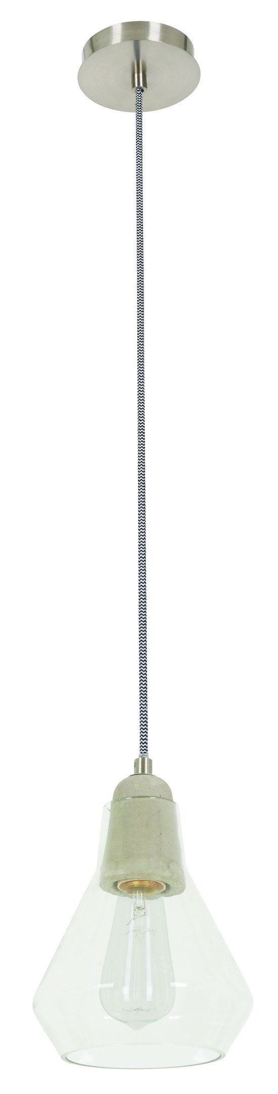 ANDO CONCRETE & GLASS PENDANT - Modern Pendants - Pendant Lights - LIGHTING DIRECT LIMITED