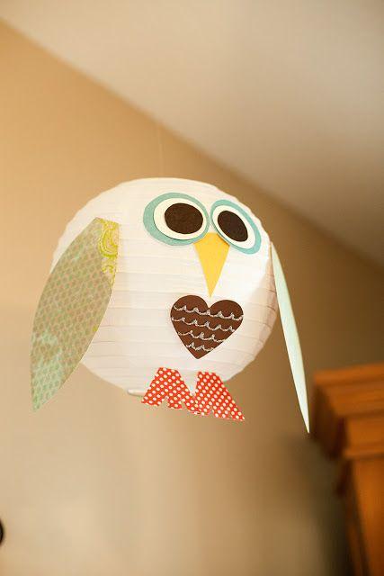 Owl lanterns and banner