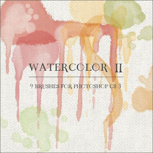 Watercolor Free Brushes Photoshop (15)