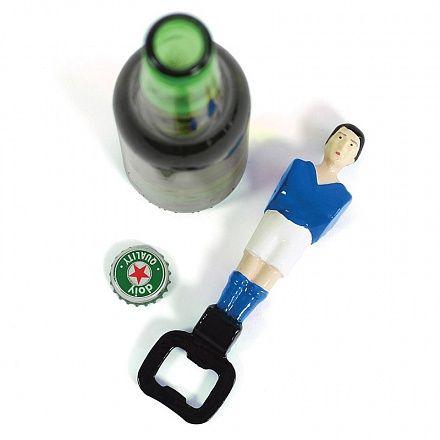 Открыватель для бутылок football синий
