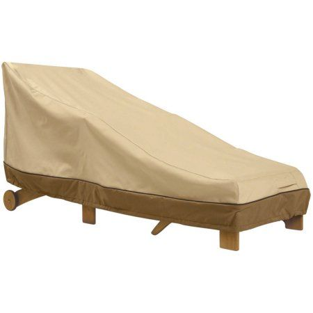 Classic Accessories Veranda Chaise Lounge Furniture Storage Cover For Hampton Bay Fall River Adjustable Patio Chaise Lounge, Beige