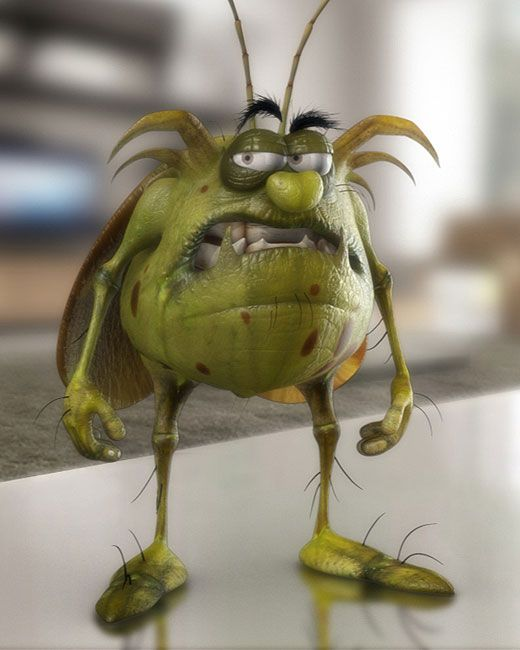 Raid Cucaracha 3d Personajes Pinterest