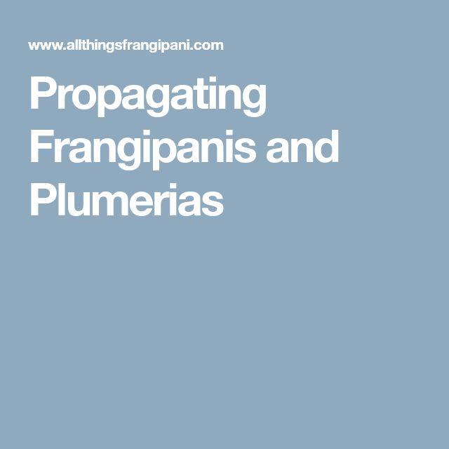 Propagating Frangipanis and Plumerias
