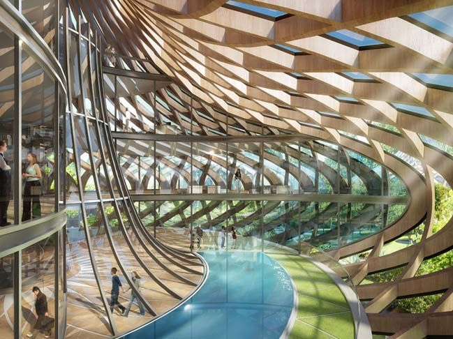 Γεύσεις Orchard φουτουριστική αρχιτεκτονική του Vincent Callebaut