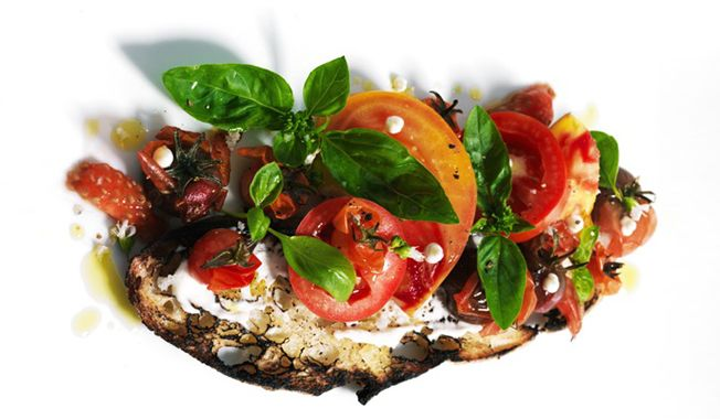 Chef Tyler Florence's Tomatoes, Mayonnaise, Basil and Toast