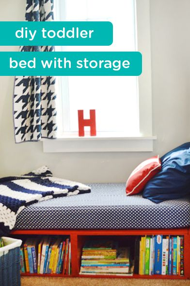 Learn how to create this DIY toddler bed for a space-saving and customizable piece of furniture in your little one's bedroom. This simple project will also add much-needed additional storage to your child's room—creating a space for all the books and toys they need as they continue to grow.
