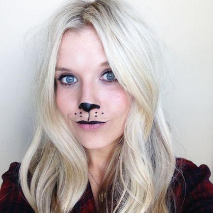 Last Minute Halloween Bear Makeup