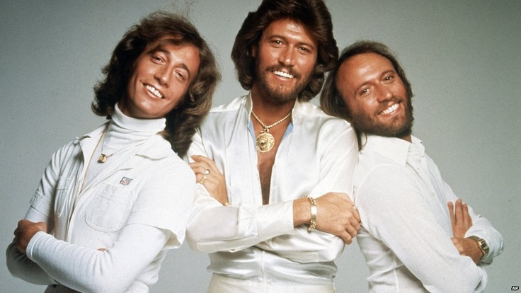 The Bee Gees in January 1979 , Maurice , and Andy now your brother Robin... .. God Bless