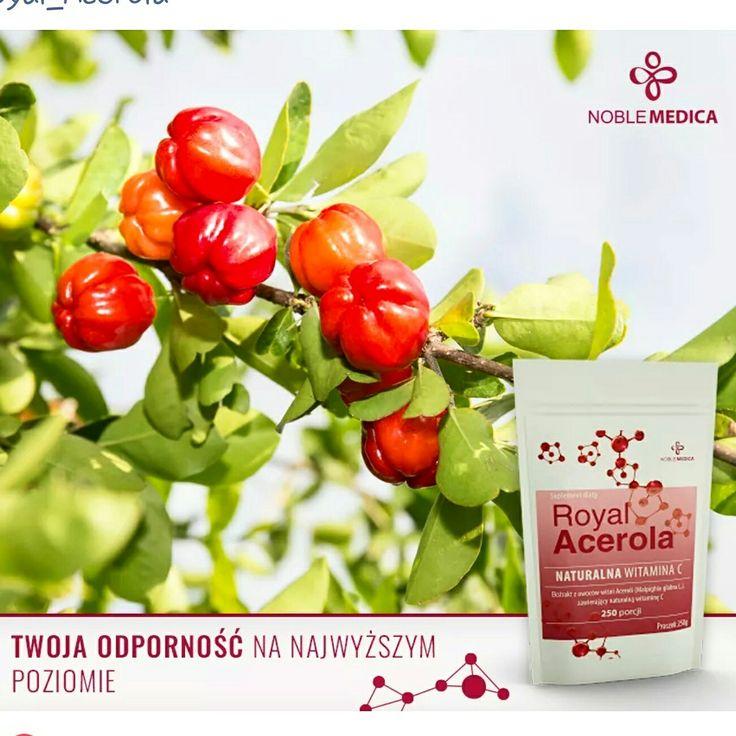 Naturalna witamina C  z wiśni Aceroli