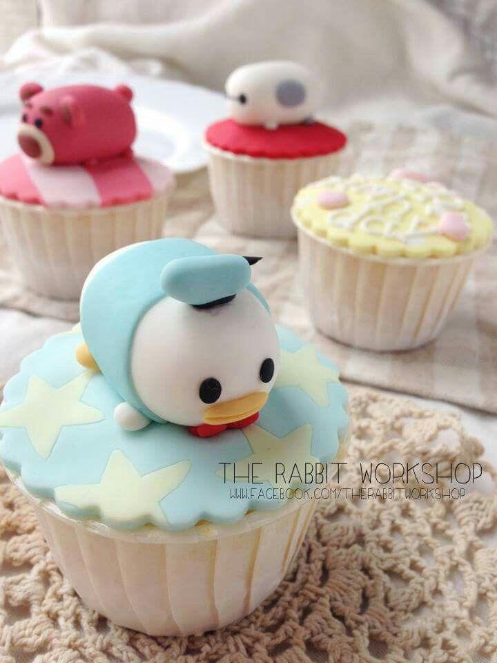 Tsum Tsum cupcakes                                                                                                                                                                                 More