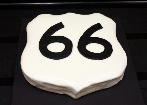 66th Birthday Cake Route 66 Party Ideas Pinterest