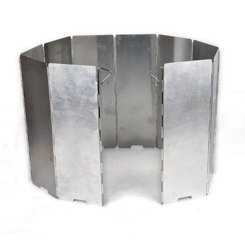 HIGHROCK 10 Plates Fold Foldable Outdoor Camping Cooker Stove Wind Shield Screen * Be sure to check out this awesome product.