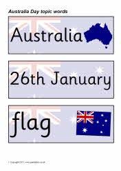 Australia Day topic word cards (SB3723) - SparkleBox