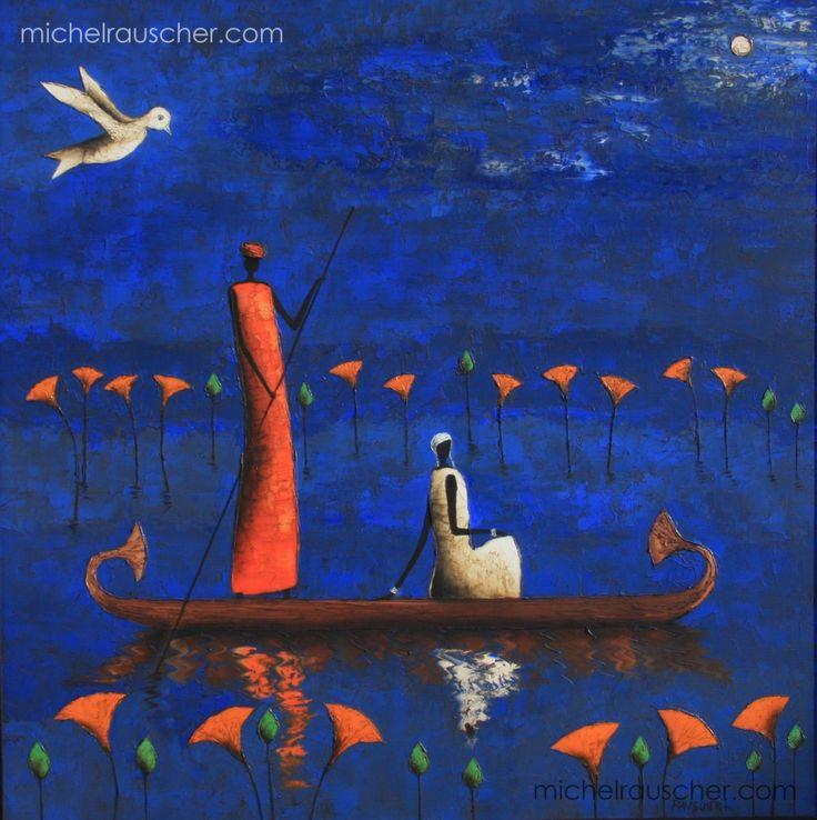 Michel RAUSCHER | Peintures - Huile sur toile - 80 x 80 cm - 2008