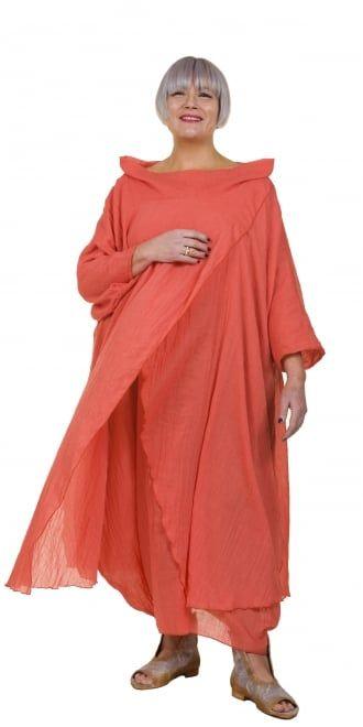 Yiannis Karitsiotis Striking Orange Crossover Dress
