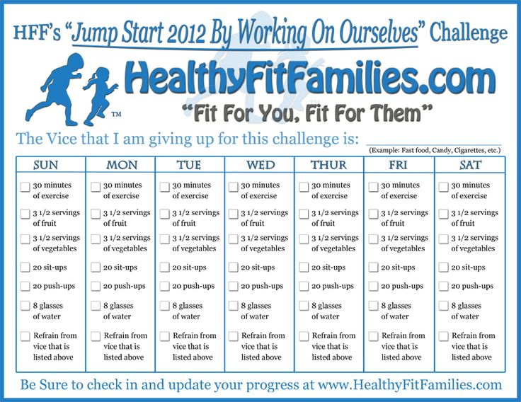 Family Fitness Ideas | Weight loss challenge and Weight loss