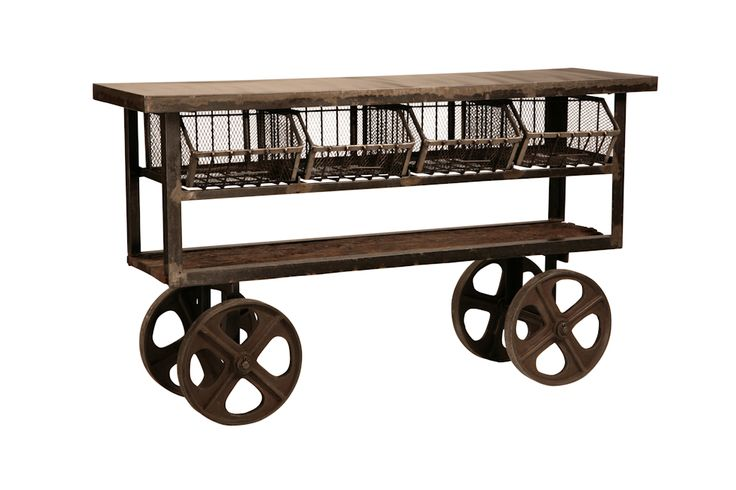 Dovetail Furniture : Urban Industrial Trolley : Available at Furnitureland South and online at ...