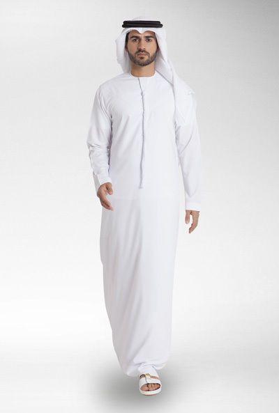 Custom made emirati original white kandura arabian thobe jubba