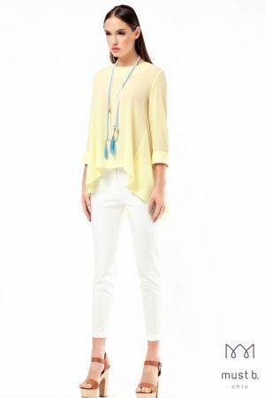 Μπλούζα γκοφρέ πλάτη κουφωτή Fashion Campaign summer spring 2015 woman top