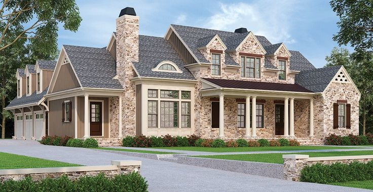 Traditional House Plan with 3306 Square Feet and 4 Bedrooms from Dream Home Source | House Plan Code DHSW077979