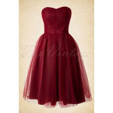 50s Tamara Party Dress in Red