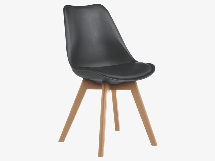 Jerry black plastic black dining chair habitatuk stuff for Black plastic dining chairs