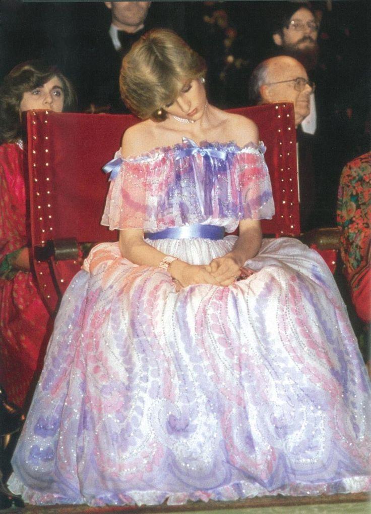 HRH Princess Diana - Fell asleep  due to early pregnancy w/ William