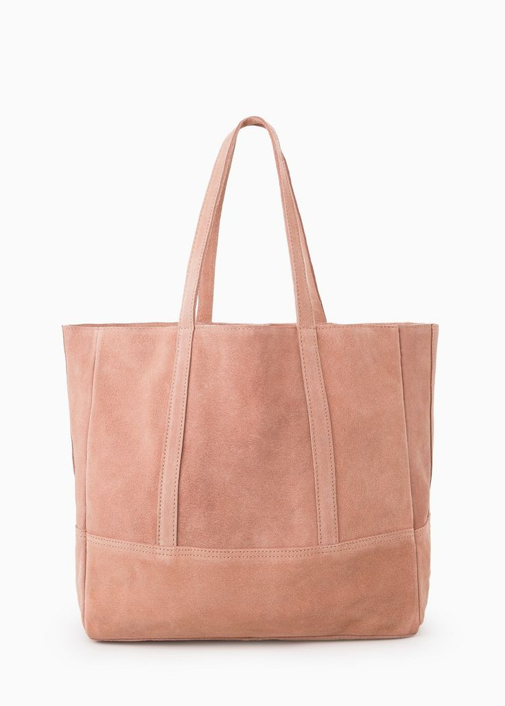 Suede shopper bag
