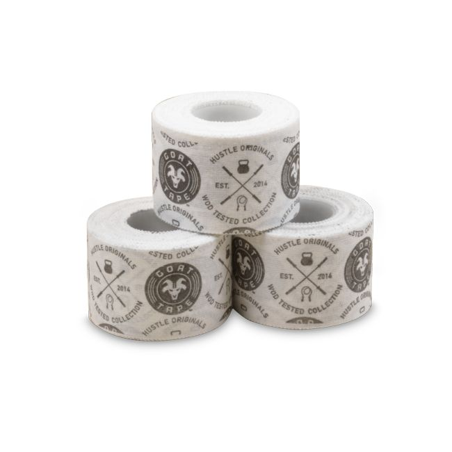 Olympic and CrossFit Lifting Tape. GoatTape comes in a single roll or a 3 pack. C$9.95 or C$24.95 #workout #gym #tape #liftingtape #weightlifting #powerlifting #fitness #crossfit