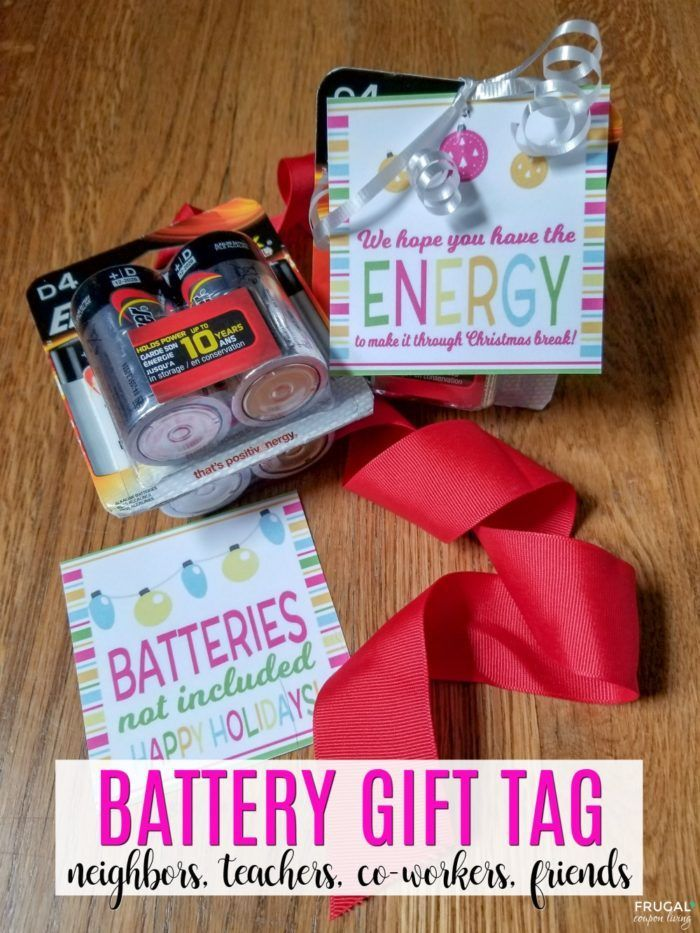 photo relating to Gift Not Included Printable known as No cost Battery Present Tag for the Xmas Period Edible